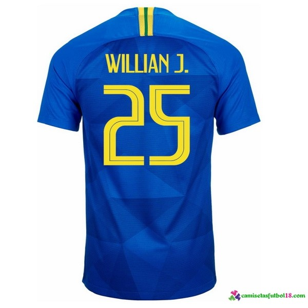 Willian J. Camiseta 2ª Kit Brasil 2018 Azul
